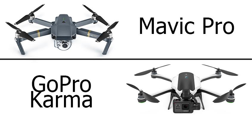 DJI Mavic Pro vs GoPro Karma