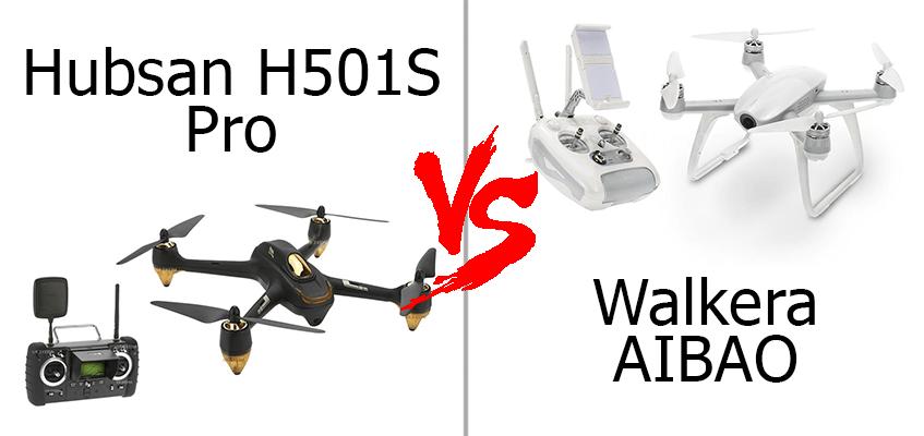 Сравнение: Hubsan H501S Pro VS Walkera AIBAO