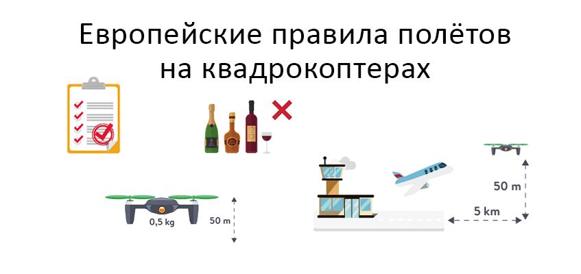 Европейские правила полётов на квадрокоптерах