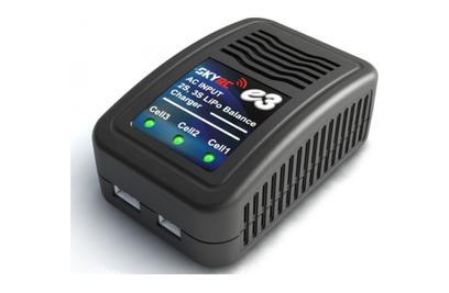 SkyRC E3 AC V2: Зарядное устройство LiPo (220V, 2-3S)