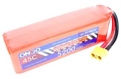 Аккумулятор 5200mAh 6S 45C Lipo Pack