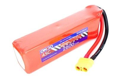 Аккумулятор ONBO 2600mAh 6S 45C Lipo Pack