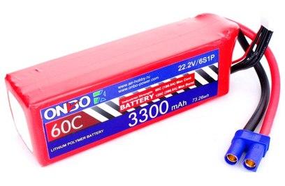 Аккумулятор ONBO 3300mAh 6S 60C Lipo Pack