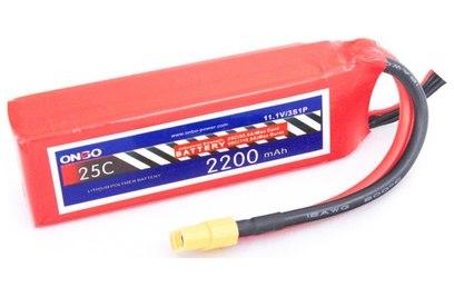 Аккумулятор ONBO 2200mAh 3S 25C Lipo Pack