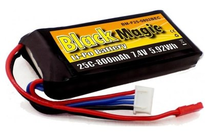 Аккумулятор Black Magic LiPo 7.4V 2S 25C 800 mAh