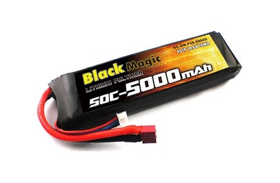 Аккумулятор Black Magic LiPo 14,8V(4S) 5000mAh 50C Deans plug - купить в Rc-like