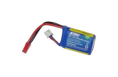 Аккумулятор E-Flite Li-pol 7.4V 400mAh, 30C, 2s1p, JST