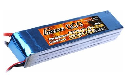 Gens Ace Li-pol 14.8V 5500mAh, 35C, 4s1p, XT60 - TA-25C-5500-4S1P