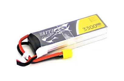 TATTU Li-pol 14.8V 3300mAh, 35C, 4s1p, XT60 - TA-35C-3300-4S1P