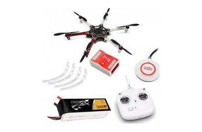 DJI F550 ARF KIT + NAZA-M Lite + GPS + Landing skid + DT7 + аккум. 5000 mah