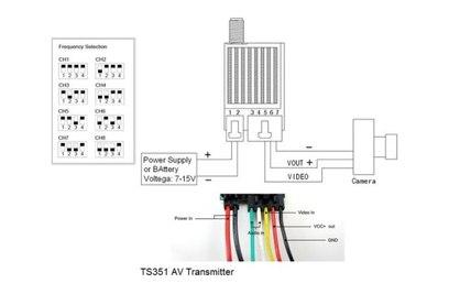 Передатчик Boscam TS351 5.8G 200mW
