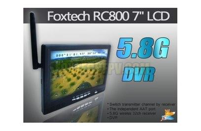 """Монитор 7"""" с приемником 5.8G и DVR для FPV-полетов RC800"""