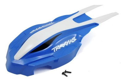 Canopy, front, blue/white, Aton - TRA7912