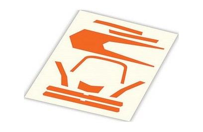 Decals, high visibility, orange - TRA7982 Aton