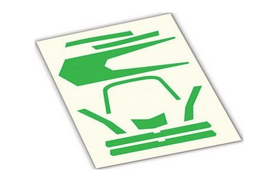 Decals, high visibility, green - TRA7983 Aton