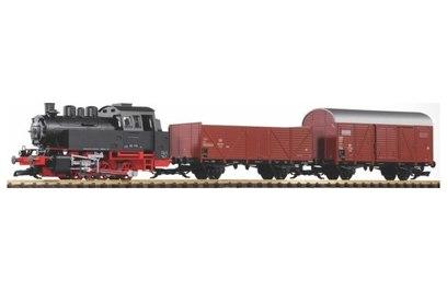 Стартовый набор аналоговый Piko Грузовой поезд DB Ep. III масштаб G (садово-дачный)