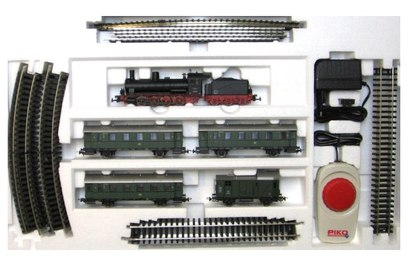 Стартовый набор модельной железной дороги Piko «Пассажирский состав DB» с парогенератором - PIKO 57121 S