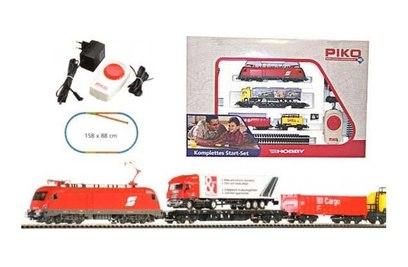 """Стартовый набор железной дороги Piko """"Грузовой состав DB Cargo с локомотивом Taurus OBB"""""""