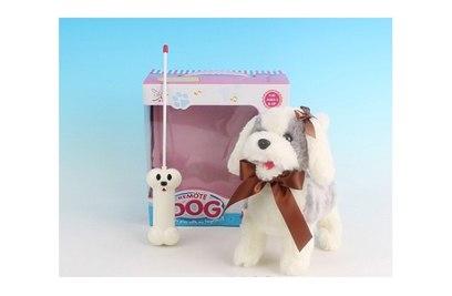Радиоуправляемая плюшевая собака Болонка - 9699B4