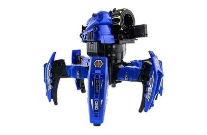 Р/у боевой робот-паук KTS Warrior (ракеты, синий)