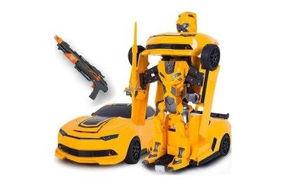 Радиоуправляемый робот трансформер MZ Chevrolet Camaro с пультом управления ввиде ружья 1:14 2.4G -