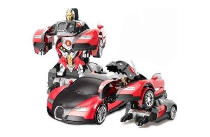 Радиоуправляемый трансформер робот зверь Bugatti Veyron Red 1:14 1:14