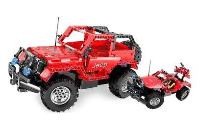 Радиоуправляемый конструктор-джип Jeep Wrangler
