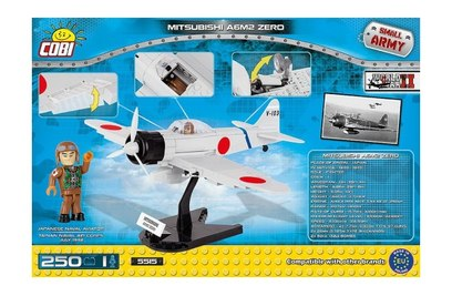 Конструктор самолёт MITSUBISHI A6M2 ZERO - COBI-5515
