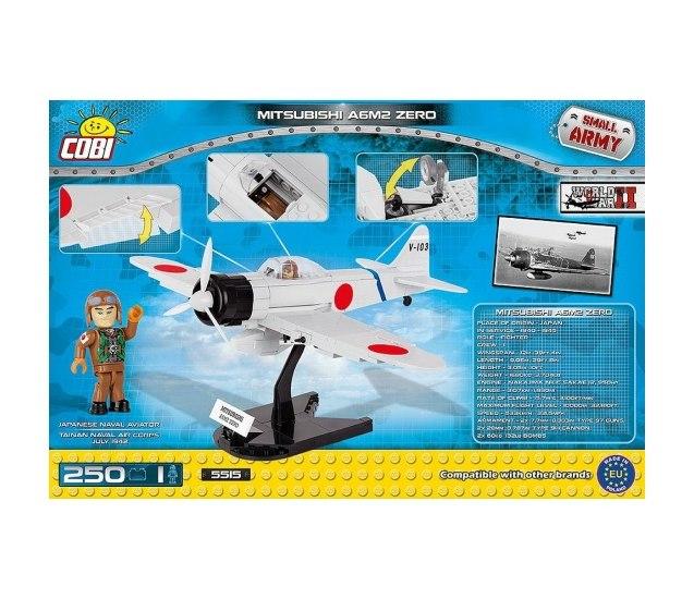 Конструктор самолёт mitsubishi a6m2 zero - cobi-5515 - купить в rc-like