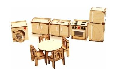 Набор мебели Хэппикон *Кухня* из дерева Хэппикон HK-M004