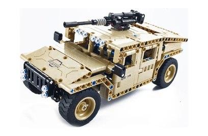 Радиоуправляемый конструктор военный джип QiHui Technics 4CH 2.4G 502 детали - QH8014