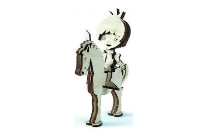 Конструктор 3D деревянный Lemmo Принц на лошади