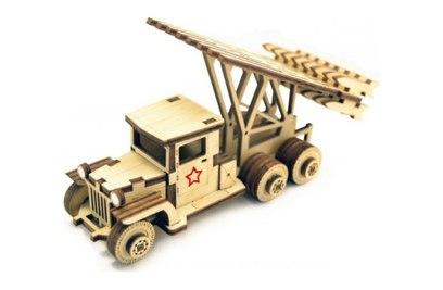 Конструктор 3D деревянный подвижный Lemmo Катюша