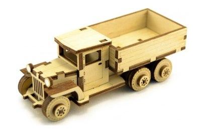 Конструктор 3D деревянный подвижный Lemmo Советский грузовик ЗИС-5В