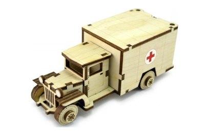 Конструктор 3D деревянный подвижный Lemmo Советский грузовик ЗИС-5м