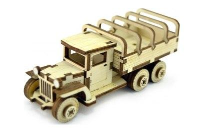 Конструктор 3D деревянный подвижный Lemmo Советский грузовик ЗИС-5вп