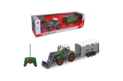 Радиоуправляемый трактор с ковшом и прицепом