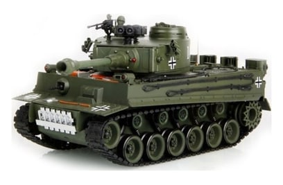 Р/у танк HouseHold German Tiger Green 1:20 40Mhz