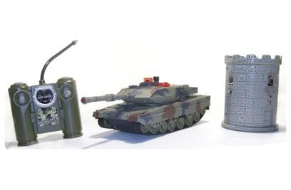 Танковый бой Huan Qi Tiger I vs Leopard 2A5 1:32 27Mhz vs 40Mhz