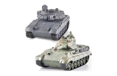 Танковый бой MYX T90 и Tiger King 1:28