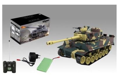 Радиоуправляемый танк Zegan Tiger I Desert 1:18 40Mhz