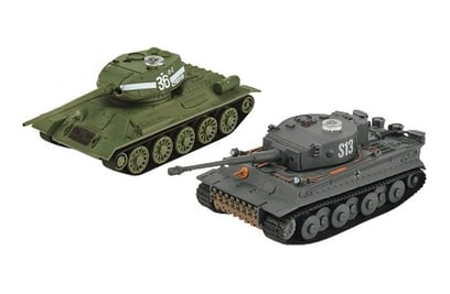 Танковый бой VSTank Russia Т34-85 vs German Tiger I 1:72 ИК