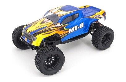 Радиоуправляемый внедорожник HSP Dominator HMT12 2WD RTR масштаб 1:12 2.4G - 94401-40191 (Голубой желтое пламя)