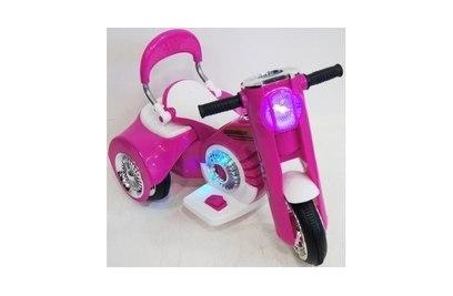 Электромотоцикл X222XX (бело-розовый, зеленый, серый)