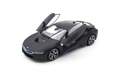 Радиоуправляемая машина Rastar BMW i8 Black 1:14 (двери открываеются с пульта) - RAS-71000