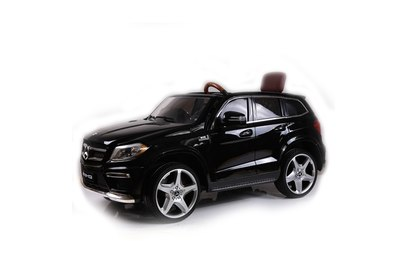 Детский электромобиль Mercedes GL63 AMG Black LUXURY 4WD MP4 2.4G - SX1588-H