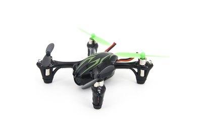 Радиоуправляемый зеленый квадрокоптер Hubsan X4 H107C c видеокамерой 2.4G - H107C-G