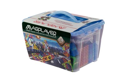 Магнитный 3D конструктор MagPlayer (аналог Магникон MK-118) - MPT-118