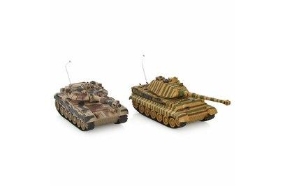 Радиоуправляемый танковый бой Русский Т90 и Немецкий KING TIGER - 99821