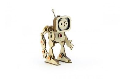 Конструктор 3D деревянный подвижный Lemmo Робот Флеш - Р-2